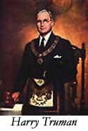 Harry Truman in Freemason Garb