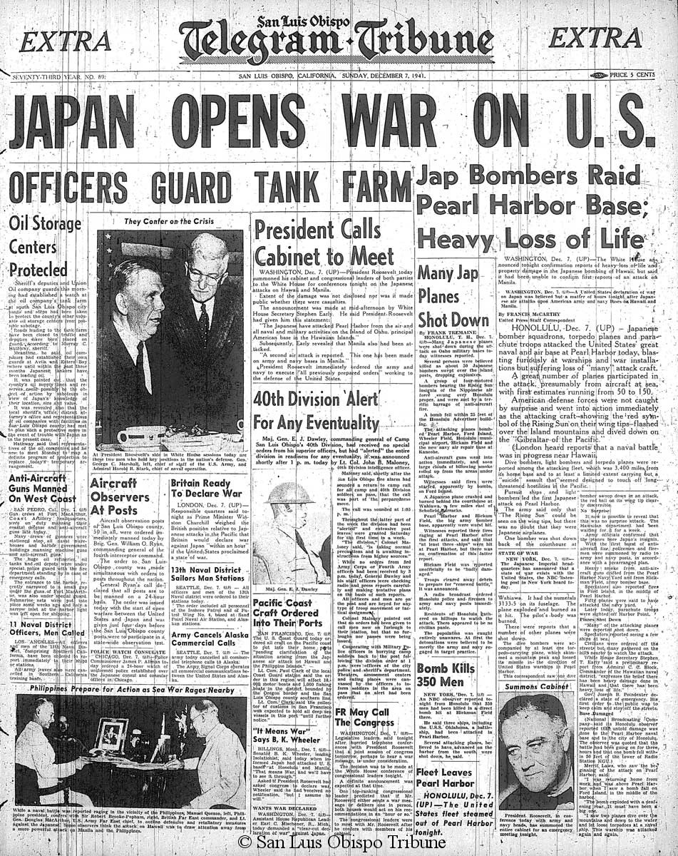the attack on pearl harbor and the untying of roosevelts hands 2017-12-7 on the 75th anniversary of the attack on pearl harbor,  pearl harbor: three films on the  at the time of pearl harbor jones's portrait of service life had.