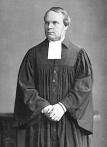 """Adolf Stoecker (1835 – 1909) war der Hofprediger von Kaiser Wilhelm II., ein Politiker und ein evangelischer deutscher Theologe, der die """"Christlich-Soziale Partei"""" gründete und den Versuch unternahm, den jüdischen Einfluss zurückzudrängen. Er wirkte bei der Organisation des """"antijüdischen Kongresses"""" von 1882 mit."""