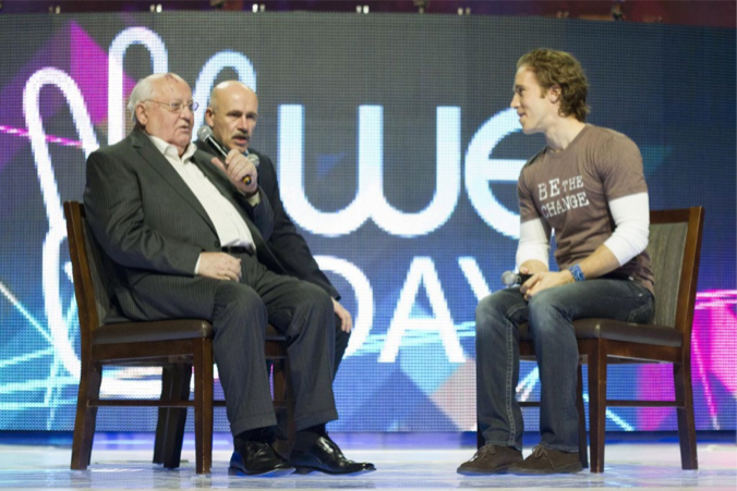 Mikhail Gorbachev interviewed by Craig Kielburger 1024x682 We Day    Illuminati Target Our Children