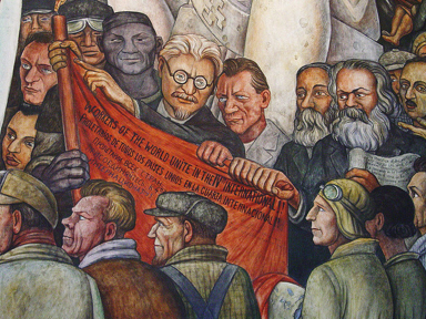 What is communism for Diego rivera first mural